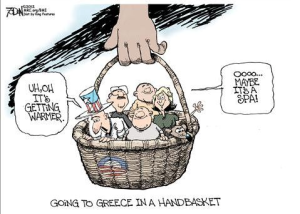 Greece in a handbasket