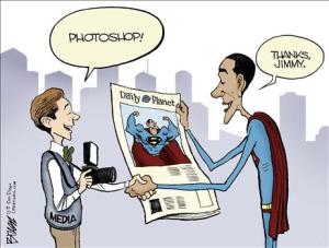 The photoshopped president