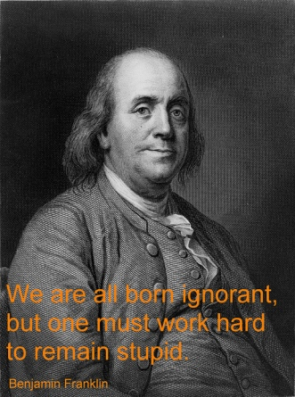Ben Franklin on stupidity