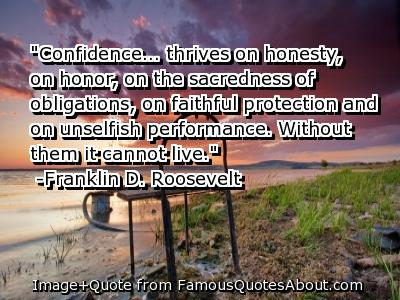 FDR ~confidence and honor