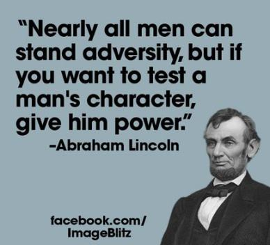 Lincoln-character and power