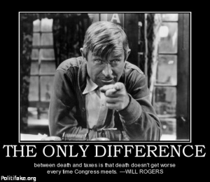 Will Rogers: Death and taxes