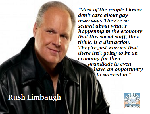 Rush limbaugh on gay marrage