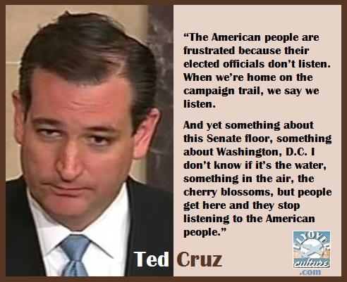 Ted Cruz ~ Filibuster