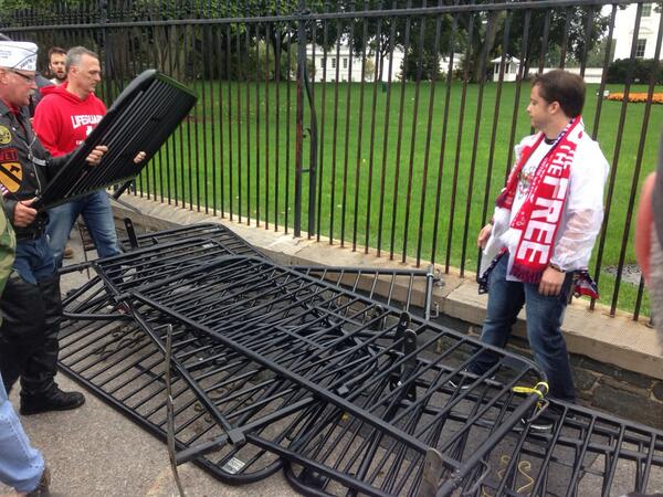 Barricades in Front of White House