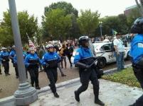 Riot Police move in.
