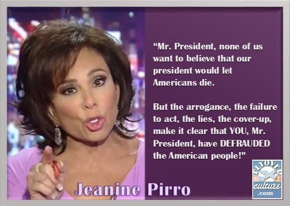 Jeanine Pirro ~ Benghazi