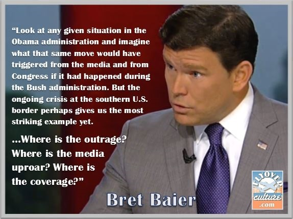 Bret Baier ~ Where's the coverage?